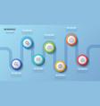 7 steps timeline chart infographic design vector image vector image