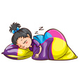 A little girl sleeping soundly vector image