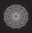 abstract mandala on chalkboard background vector image vector image