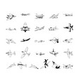 airplane clipart collection set vector image