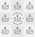 anchor and letters monograms or logotype set vector image