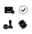approve glyph icons set vector image vector image