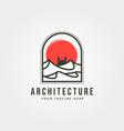arabian desert with mosque icon logo symbol design vector image vector image