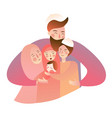 arabic muslim family man woman with baby boys vector image