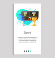award and scoreboard competition objects vector image