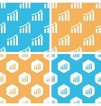 Bar graphic pattern set colored vector image