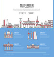 berlin city travel vacation guide vector image vector image