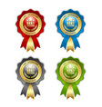 best seller rosettes placed on white background vector image