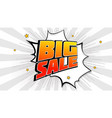 big sale pop art splash background explosion in vector image