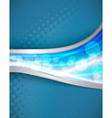 blue futuristic background vector image vector image