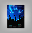 brochures book or flyer with festival rock theme vector image vector image