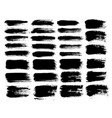 brush strokes set 1 vector image vector image