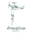 Business concept follow dream drawn sketch vector image