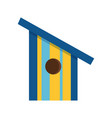 cartoon bird house icon vector image vector image