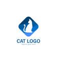 cat logo design modern cat logo template isolated vector image