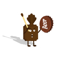 chocolate shaman vector image vector image