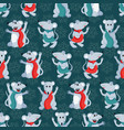 christmas or new year seamless pattern with cute vector image