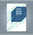 cover annual report 893 vector image vector image