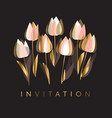 decorative tulip flowers vector image vector image