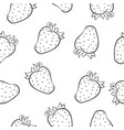 doodle of strawberry fruit hand draw vector image vector image