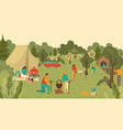 family and people in park outdoors picnic mother vector image