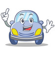 finger cute car character cartoon vector image vector image