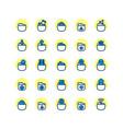 folder filled outline icon set vector image