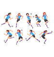 girls playing soccer collection young women vector image vector image