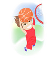 happy childhood concept competitive young boy vector image