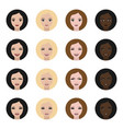 icons women faces with expressions vector image vector image