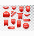 label tags collection sale banners vector image
