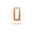 Letter Q orange logo graphic design symbol vector image