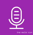 microphone line icon audio recording symbol vector image