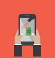 mobile banking money stealing vector image vector image