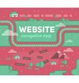 Navigation Map of Website vector image vector image
