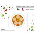 nepali cuisine asian national dish collection vector image vector image