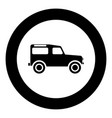 off road vehicle icon black color in circle round vector image vector image