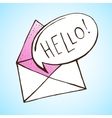 Opened letter with speech bubble Hand drawn vector image vector image