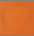 orange wave dot background abstract wallpaper vector image vector image
