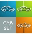 paper car set vector image vector image