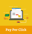 Pay per click vector image vector image