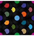 phonograph vinyl record seamless pattern vector image
