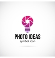 Photo Ideas Concept Symbol Icon or Logo Template vector image vector image