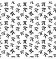 pi symbol seamless pattern hand drawn sketched vector image