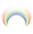 rainbow icon realistic isolated white background vector image