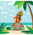 Rasta man playing vector image