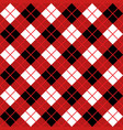red argyle harlequin seamless pattern vector image vector image