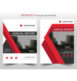red triangle annual report brochure flyer design vector image vector image