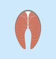Salmon Steak Icon vector image