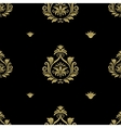 Seamless abstract black and gold classic pattern vector image vector image